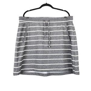 TORRID Grey White French Terry Mini Skirt 2X